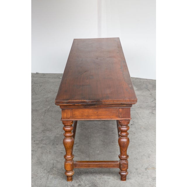 Antique Anglo-Indian Rosewood Bench - Image 4 of 7