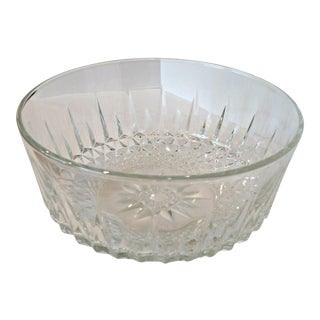 Vintage Diamant Crystal Serving Bowl by Cristal d'Arques-Durand France For Sale