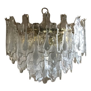 1970s Mazzega Murano Chandelier For Sale