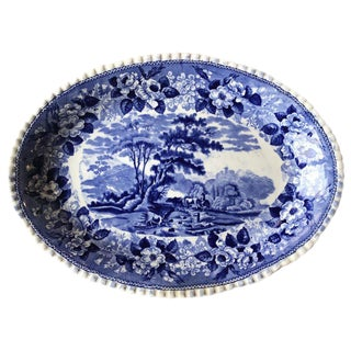 Blue & White English Ironstone Platter