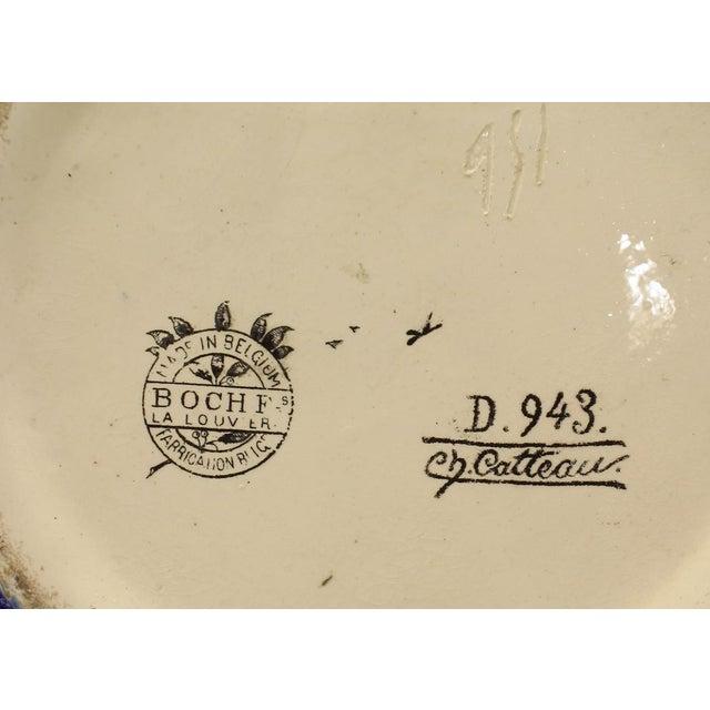 Charles Catteau for Boch Freres Art Deco (Belgian) Crackled Earthenware Vase For Sale - Image 4 of 6