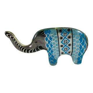 1970s Abraham Palatnik Lucite Small Elephant Figurine For Sale