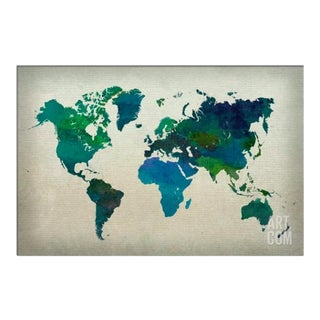 Water Color World Map
