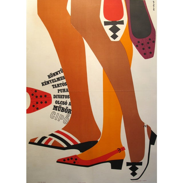 Original Hungarian Swinging 60's Shoe Poster - Image 1 of 3