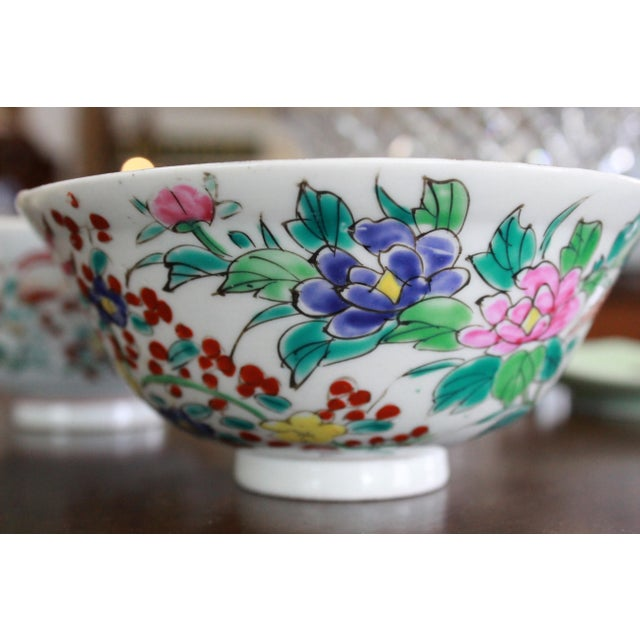 Late 19th Century 19th Century Vintage Rice Bowls - a Pair For Sale - Image 5 of 8
