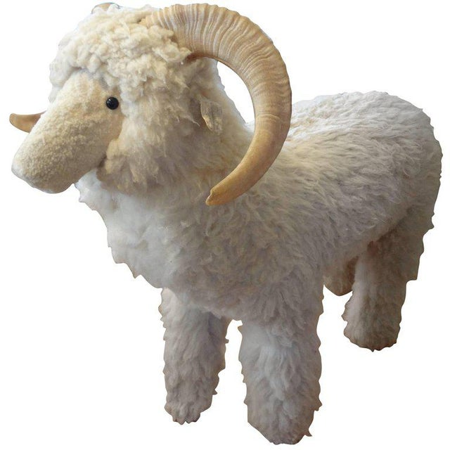 Vintage Sheep Sculpture or Bench Inspired by Lalanne For Sale - Image 10 of 10