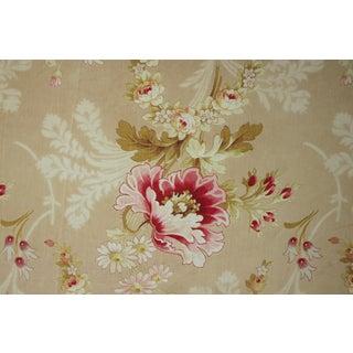 French Floral Fabric Art Nouveau Nouveau Circa 1910 Flower Printed Cotton Fragment For Sale