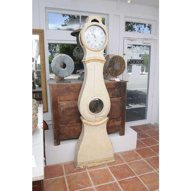 Gustavian (Swedish) Painted Gustavian Mora Clock For Sale - Image 3 of 8