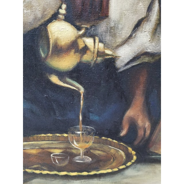 """1990s Jenine Tomao """"Coffee Drinkers"""" Oil on Canvas Painting For Sale In Los Angeles - Image 6 of 12"""