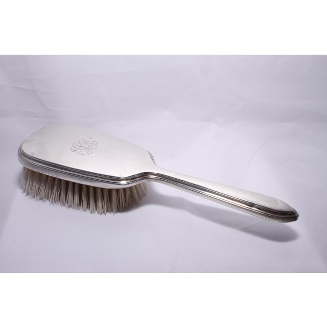 Art Deco Art Deco Gorham Sterling Silver Hand Mirror & Brush Set For Sale - Image 3 of 11
