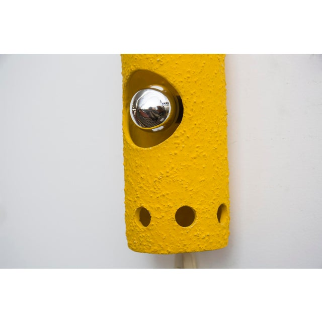 Yellow Ceramic Wall Sconce - Image 5 of 7