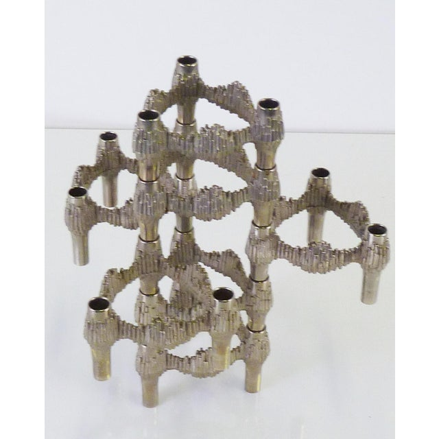 Modern Brutalisy Quist Variomaster Stacking Candleholder by Bmf Nagel, Germany 1970s For Sale - Image 11 of 11