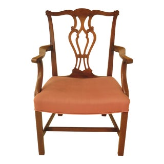 Saybolt Cleland Chippendale Mahogany Devon Armchair