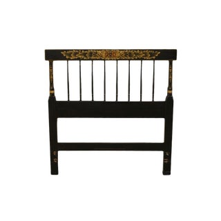 Hitchcock American Made Black Stenciled Twin Size Headboard For Sale