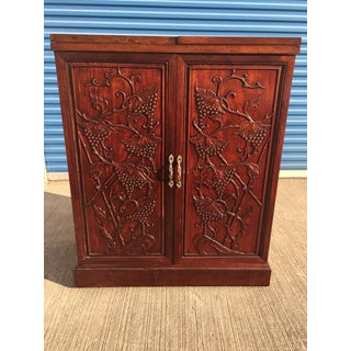 Asian Fold Out Bar Carved Rosewood Preview