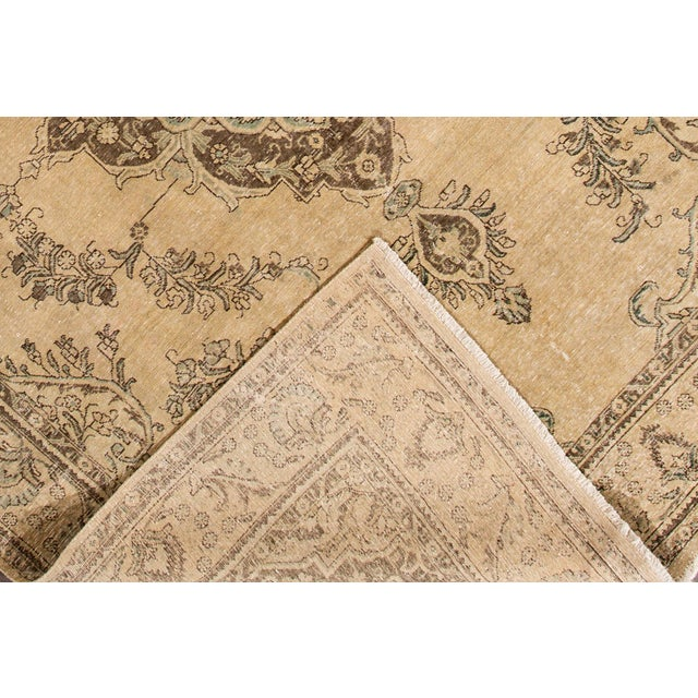 "Apadana - Vintage Persian Tabriz Rug, 9'10"" X 12'7"" For Sale - Image 4 of 7"