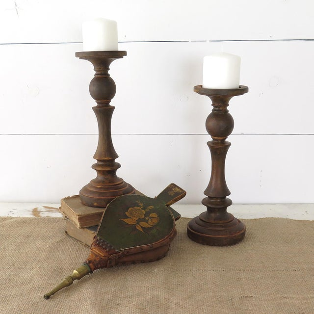 Cottage Antique Fireplace Bellows For Sale - Image 3 of 10