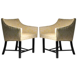 Adorable Pair of Harvey Probber Club Chairs For Sale