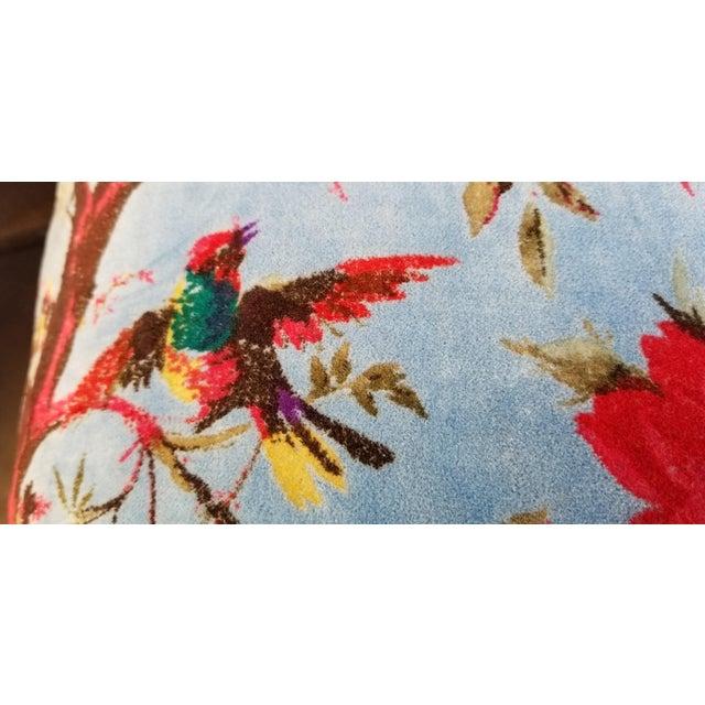 Sumptuous Cotton Velvet Pillows Pair For Sale - Image 4 of 7