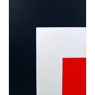 Bold Geometric Abstract Oil on Canvas