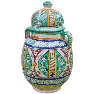 Antique Afro-Moresque Ceramic Vase For Sale