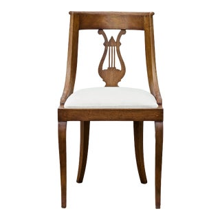Neoclassical Lyre Back Game Table Chairs, Set of 4 For Sale