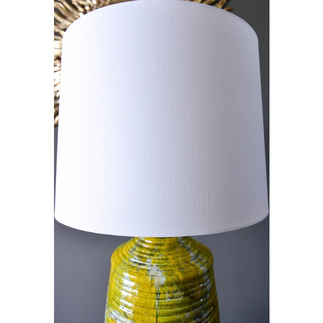Large Textured Ceramic Table Lamp, Circa 1975 For Sale - Image 4 of 8