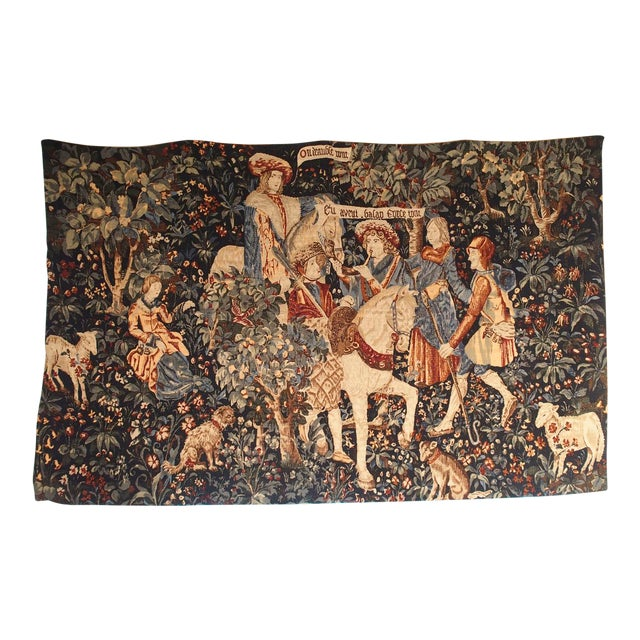 Medieval Style Tapestry from France, 20th Century For Sale