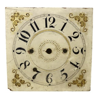 Circa Early 1800s Antique American Wood Clock Dial For Sale