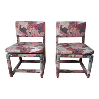 Milo Baughman for Thayer Coggin Upholstered Chairs - A Pair