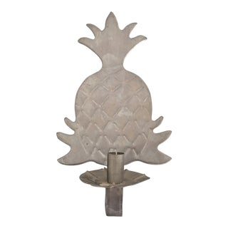 Vintage Pineapple Metal Candle Sconce For Sale