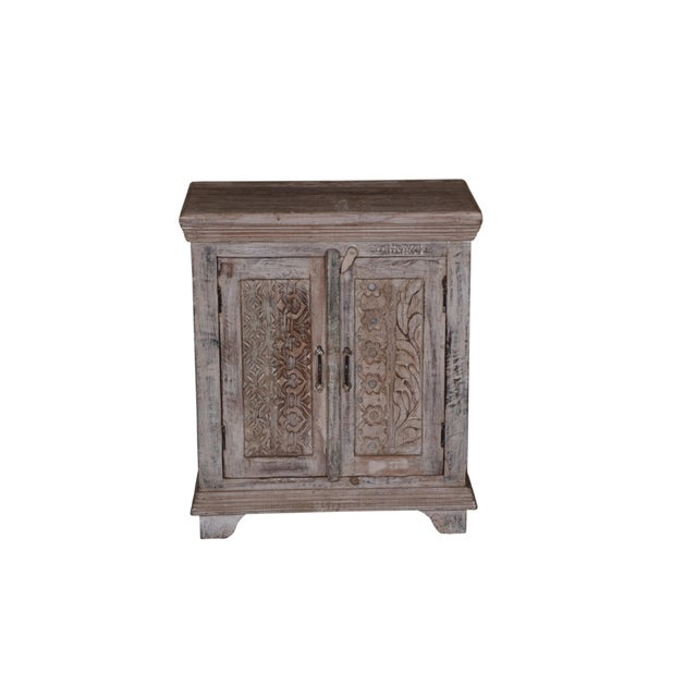 Rustic Wood Cammi Cabinet For Sale - Image 4 of 4