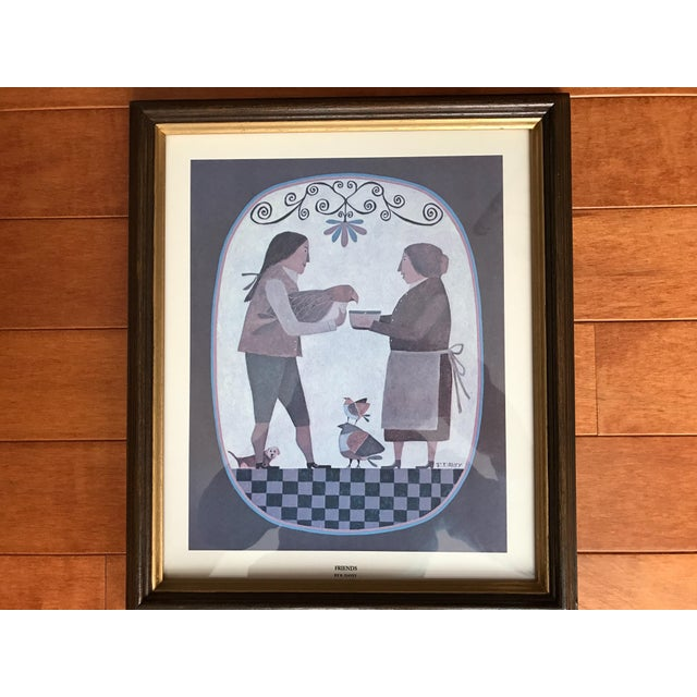 Grouping of 4 Primitive Framed Pictures - Image 6 of 7