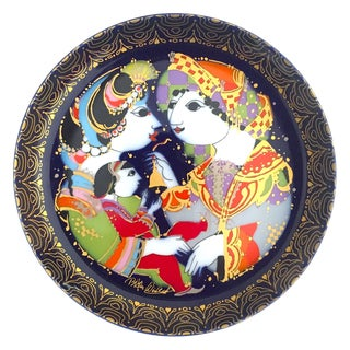 "Bjorn Wiinblad Vintage Danish Modern Rosenthal Porcelain "" Aladdin "" Collector's Decorative Wall Plate For Sale"