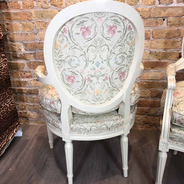 1930s Vintage French Style Upholstered Chairs- a Pair For Sale - Image 12 of 13