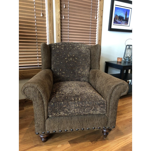 Two comfy chairs with corduroy-like fabric. Perfect to curl up in to read a book! These chairs have been rarely used....