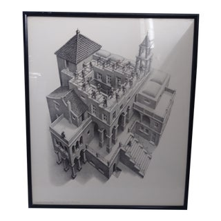 1960s M. C. Escher Ascending and Descending Reproduction Print For Sale