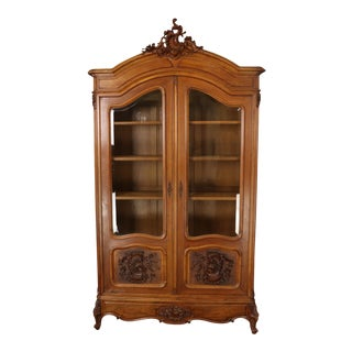 Bookcase Louis Xv Antique French Rococo 1880 For Sale