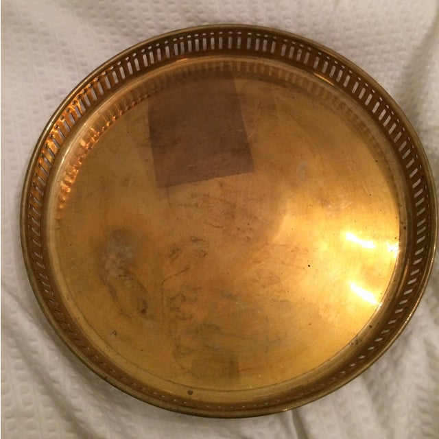 Vintage Brass Tray With Votive Candle Holders - Image 5 of 6