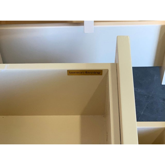 2010s Lawson Fenning Niguel Brass and Lacquered Nightstands - a Pair For Sale - Image 5 of 12