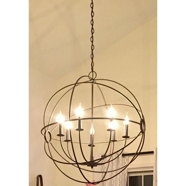 """This beautiful light from Restoration Hardware was made for cathedral ceilings. It is 32"""" in diameter with a 24"""" chain..."""