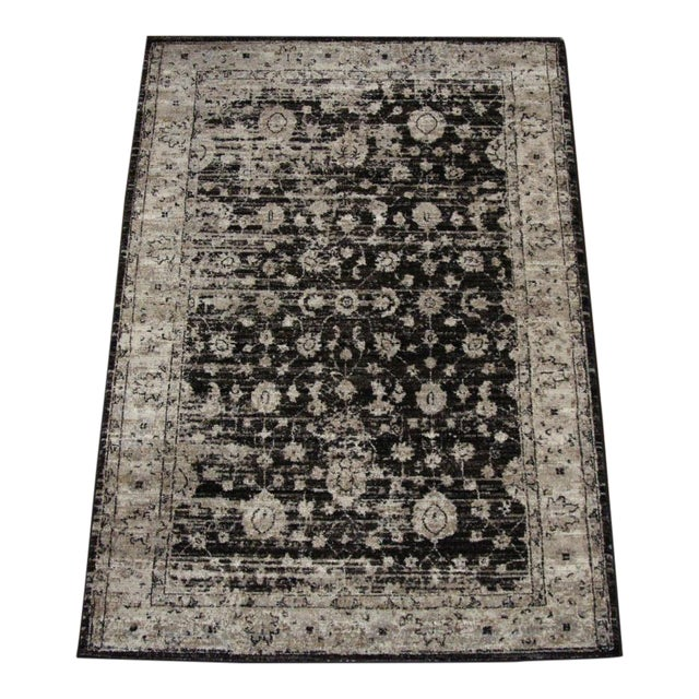 "Distressed Vintage Floral Rug - 2'8"" x 5' - Image 1 of 4"