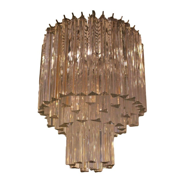 Transparent 1960s Murano Venini Chandelier For Sale - Image 8 of 9