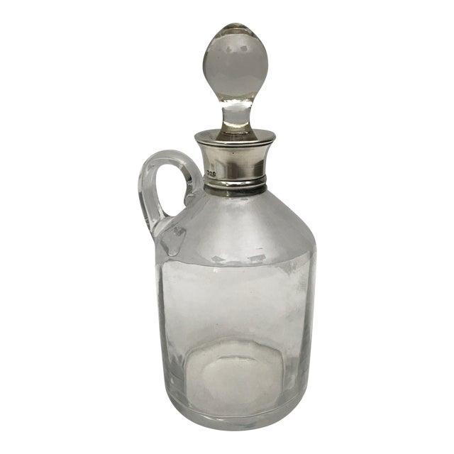 19th C. Glass & Sterling Silver Cruet For Sale