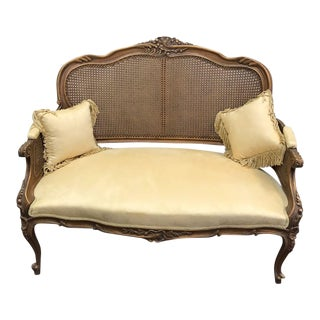 French Style Handmade Settee For Sale