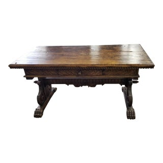Antique Spanish Colonial Walnut Console or Writing Table