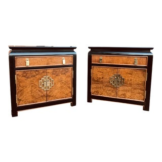 1970s Mid-Century Modern Century Furniture Chin Hua Nightstands - a Pair