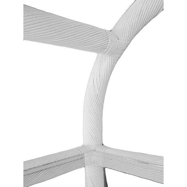 White Lacquered Rattan Étagères - A Pair - Image 4 of 6