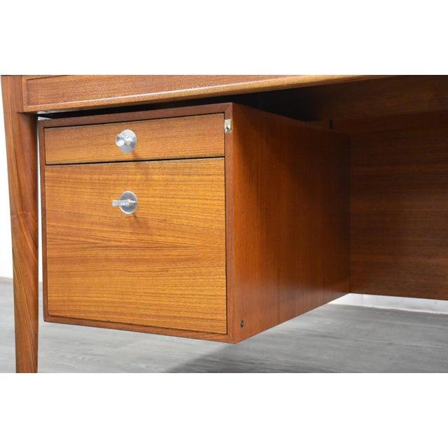 "Teak Executive ""Diplomat"" Desk by Finn Juhl For Sale - Image 10 of 13"