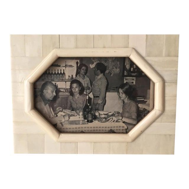 Vintage Bone & Wood Frame, Made India - Image 1 of 7